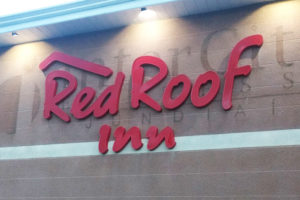 Letras Caixa Red roof in