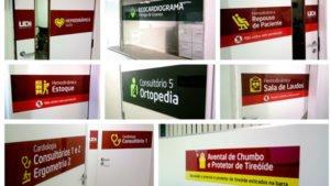 Sinalização consultório médico