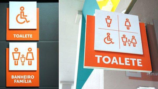 Sinalização interna toalette